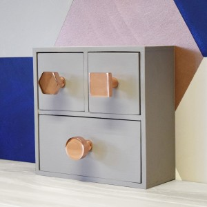 hexagonal, round, square copper knobs