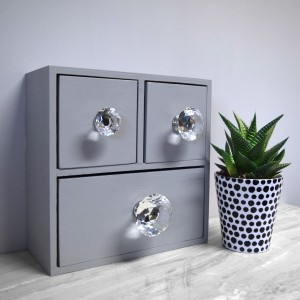 Beautiful Crystal Clear Diamond Shaped Knobs