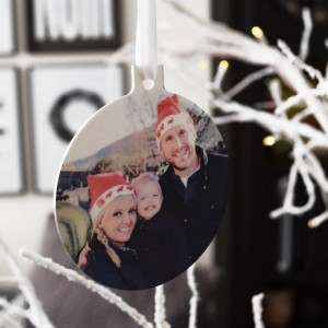 Give A Gift That Will Be Admired & Cherished This Christmas With Our Personalised Photo Bauble