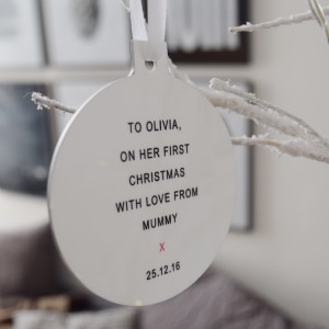 Personalised Photo Christmas Tree Decoration- Side 2