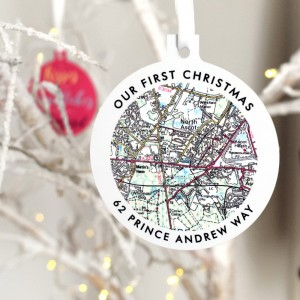 Make A Special Statement This Christmas With Our Personalised UK Map Bauble Decoration