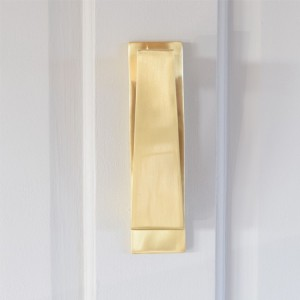 Slim Matte Brass Door Knocker
