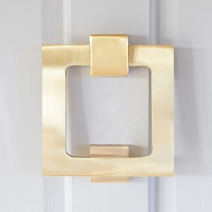 Square Matte Brass Door Knocker