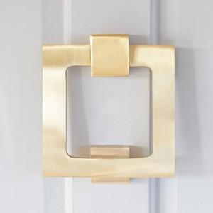 Square Matte Brass Door Knocker